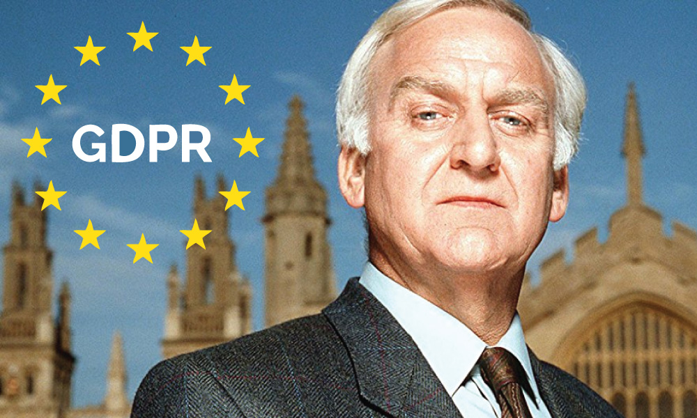 Tonight on Inspector Morse – GDPR